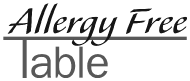 Allergy Free Table Logo