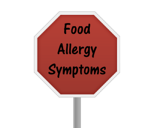 Common food allergy symptoms