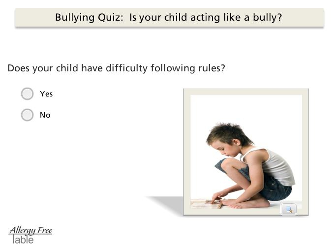 Is your child bully quiz?
