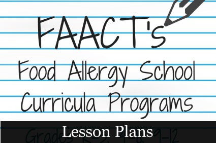Food Allergy Lesson Plans