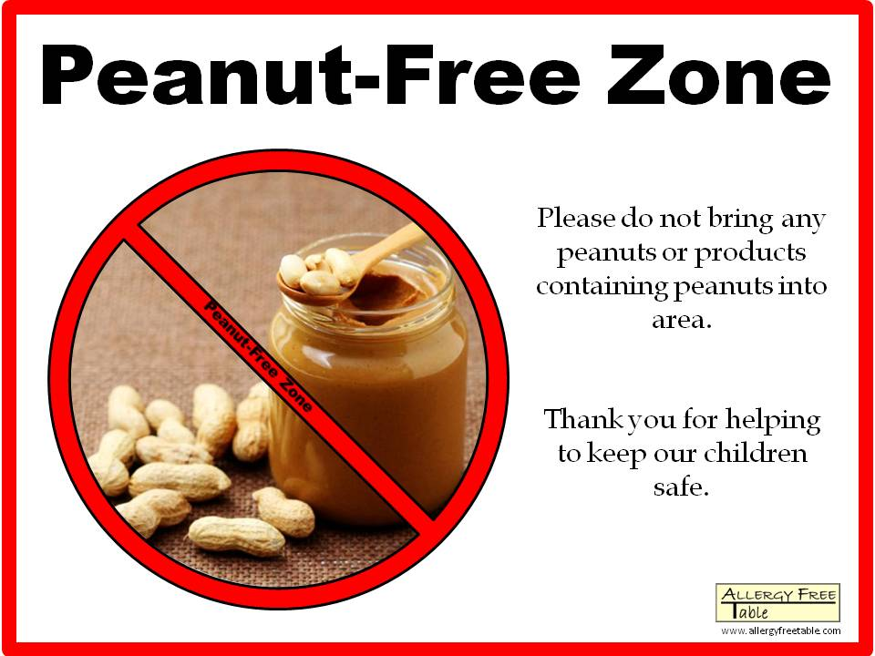 Peanut-free Zone Poster