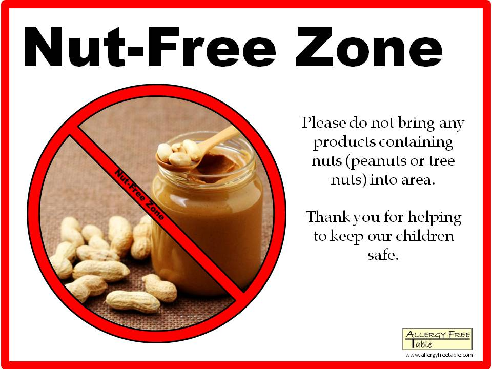 Nut-free Sign