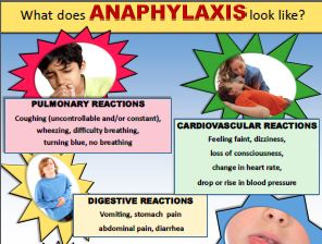 What does anaphylaxis look like?